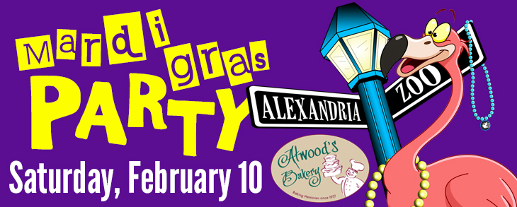 Parade over to Alexandria Zoo for the Mardi Gras Party