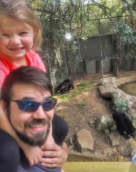 family and black bears